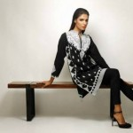 Khaadi Latest Black and White Dress Collection For Women (3)