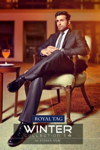 Latest Winter Suits 2014 For Men By Royal Tag (4)