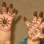 Lovely Kids Mehndi Henna tattoos Hand and feet Designs Collection (7)