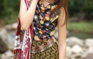 Rabea Designer Embroidered Linen Collection 2013-14 For Women