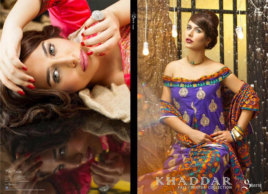 Rabea Linen Latest Women Khaddar Collection 2013-14 by Shariq Textiles