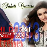 Prachi Desai Floor Length Stylish Frocks 2013-2014 by Saheli Couture