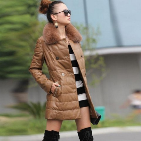 Women Leather Winter Jackets (6)