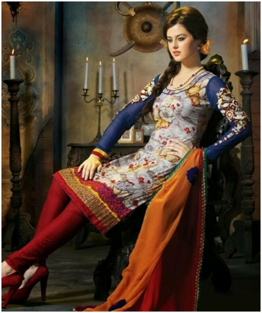 new short kurti with churidar pajama dresses