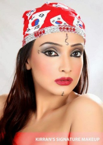 Aamna Karim Actress and Model Pictures in Kirran Signature Makeup (2)