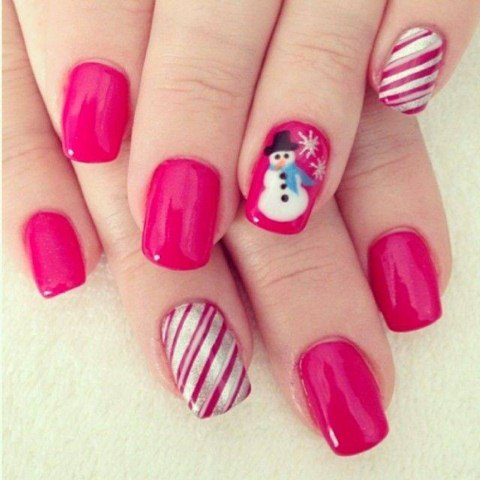Christmas Party Nail Polish Nail Art Designs Fashionspk
