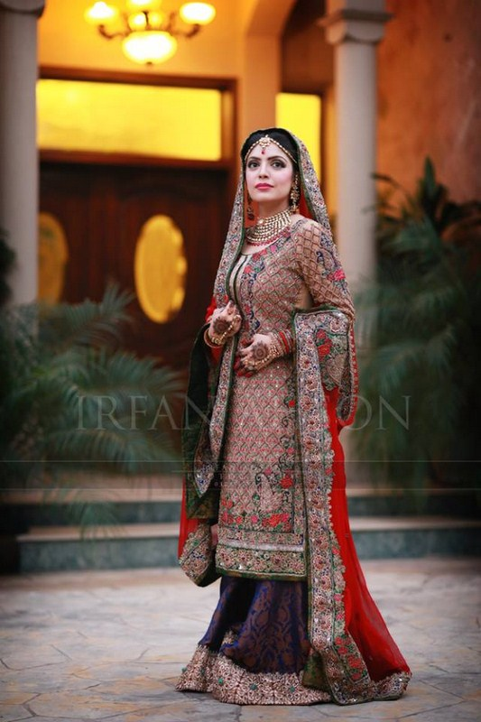 Pakistani & Indian Latest & Modern Bridal Dresses 2014 For Girls
