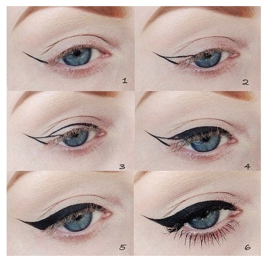 Cat-Eye Eyeliner Tutorial 2014 for Girls and Women