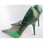 Lovely Elegance Peacock Designs Ladies Shoes Collection 2014 (1)