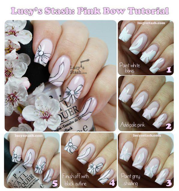 Blossom nail art tutoria by Meem'z Nail Art Studio on Pakistyles.com