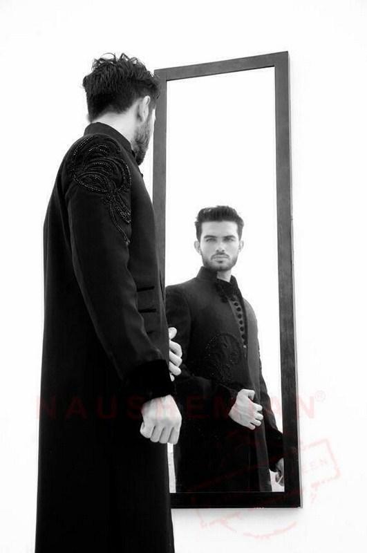 Naushemian Sherwani Latest Designs 2013-2014 For Men
