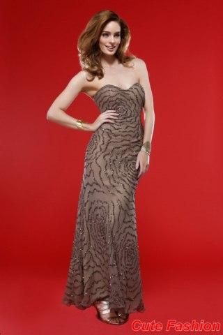 New Year 2014 Evening Party Dress Collection For Girls (1)