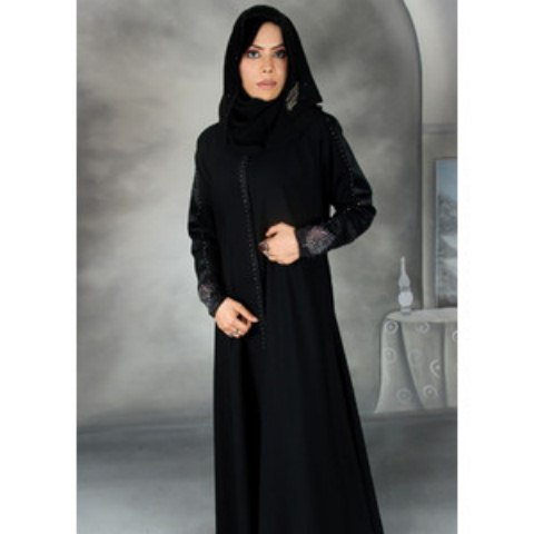 Black Color Abayas Amazing Designs Islamic Dresses 2014 (7)