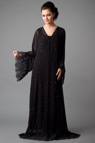 Black Color Abayas Amazing Designs Islamic Dresses 2014 (2)