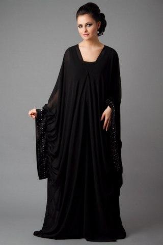 Black Color Abayas Amazing Designs Islamic Dresses 2014 (4)