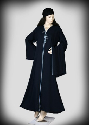 Black Color Abayas Amazing Designs Islamic Dresses 2014 (5)