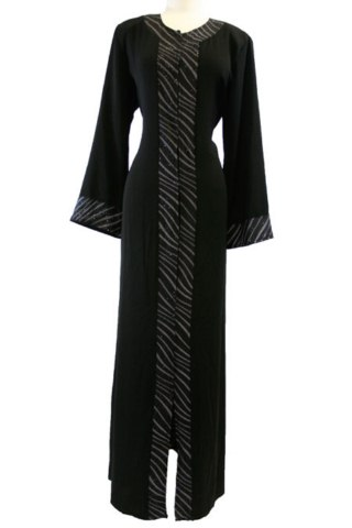 Black Color Abayas Amazing Designs Islamic Dresses 2014 (6)