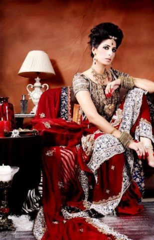 wedding mehndi waleema party dresses 2014