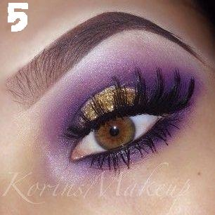 Method For Getting Gold Sparkle Eye-Shadow