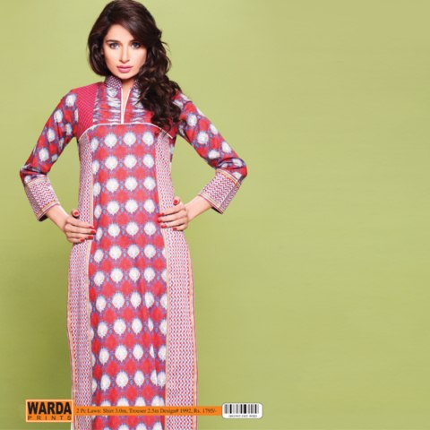warda latest summer lawn collection 2014