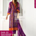 Gul Ahmed premium embroidered chiffon collection 2014