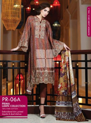Summer latest lawn dresses 2014