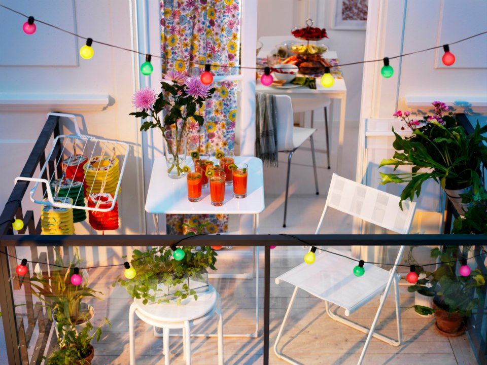 Most colourful and decorated terrace for summer