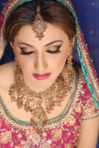 Bridal Wearing Jewelry and with Makeup