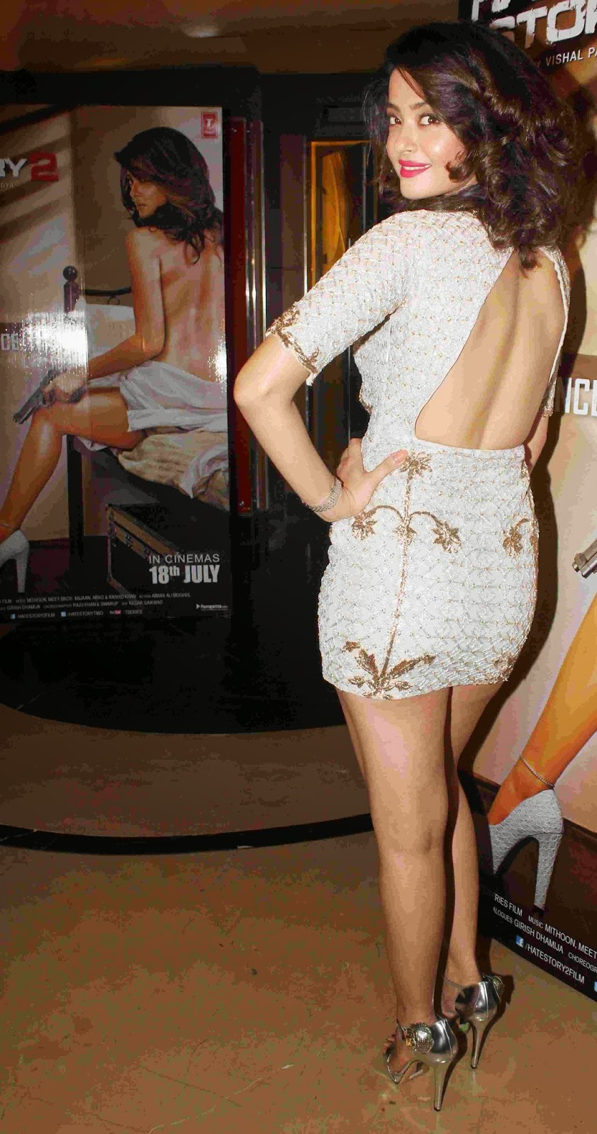 Hot Backless wearing Surveen Chawla
