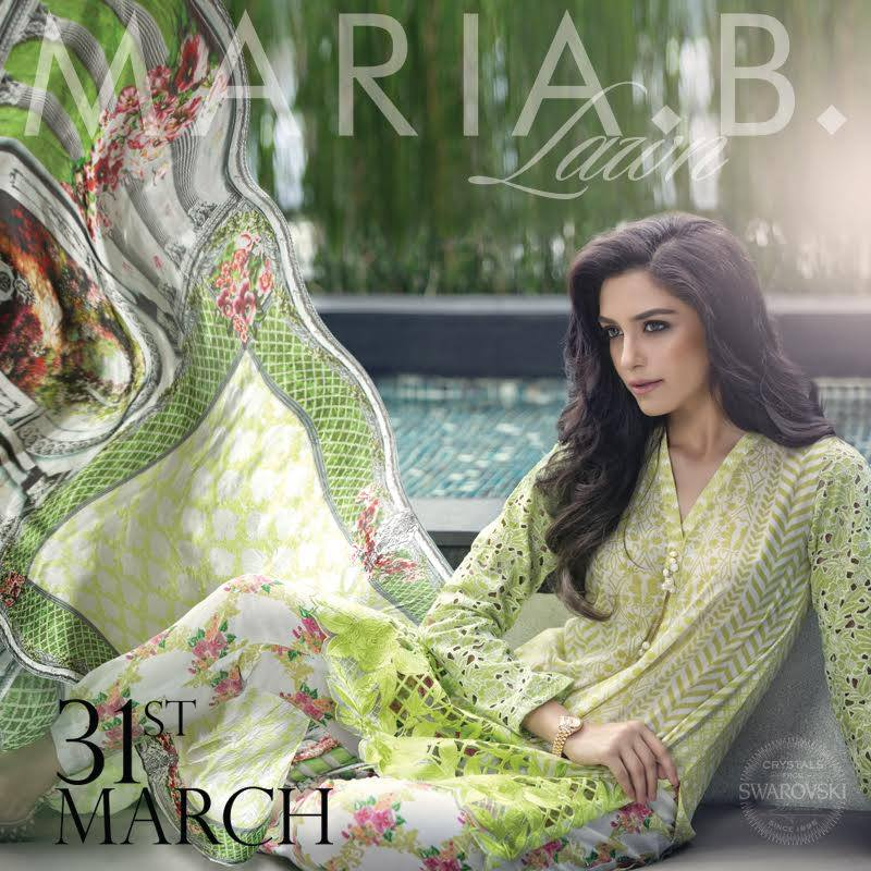 Maria B lawn collection 2016 for women