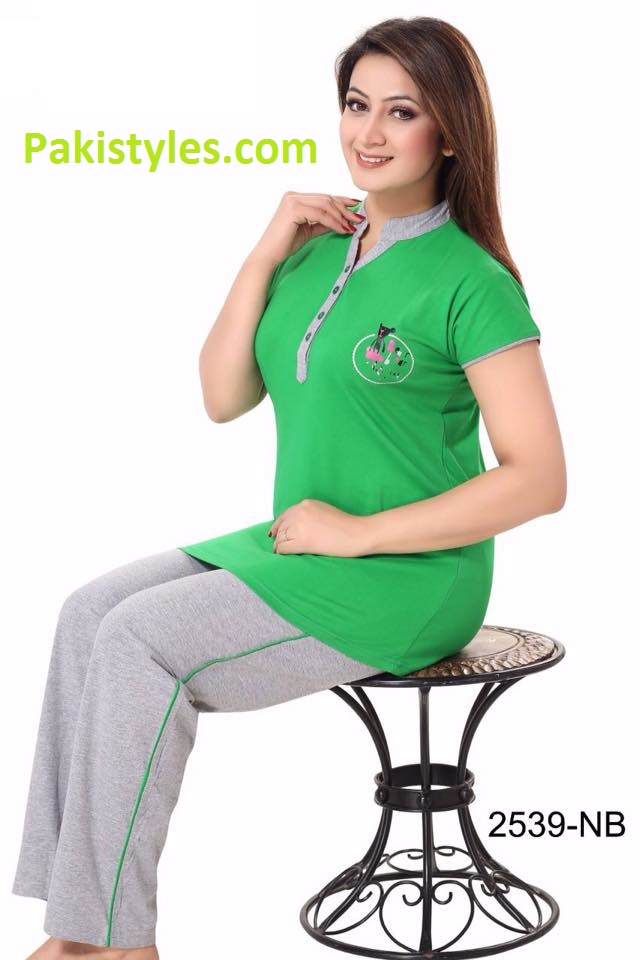 Green T shirts and trouser for girls