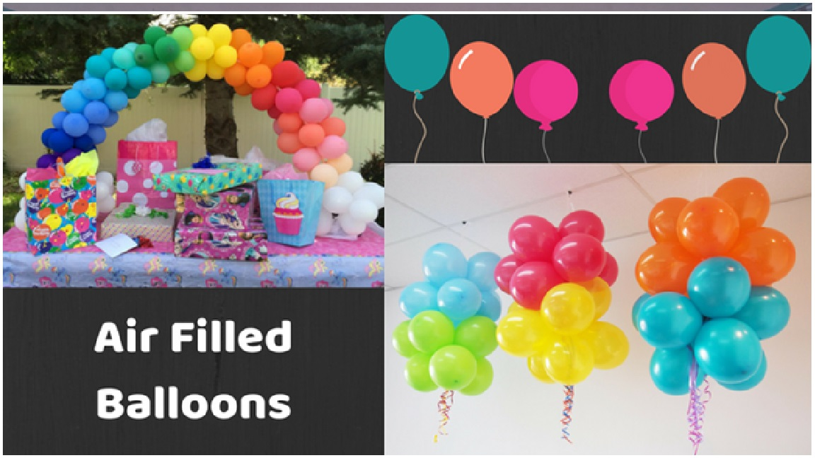 Air Filled Balloons for Weddings & Birthday party