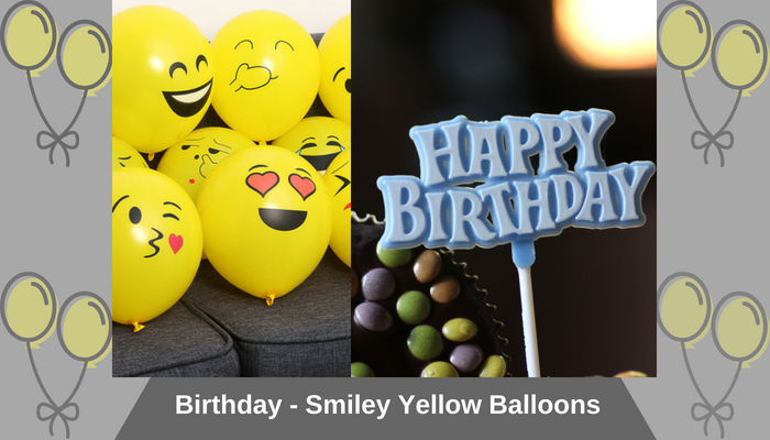 For Birthday - Smiley Yellow Balloons