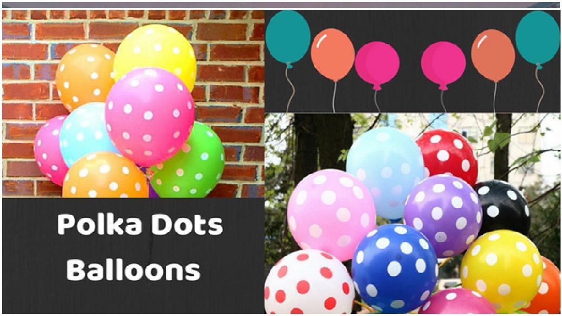 Bright Polka Dot Balloons Polka Dots Balloons
