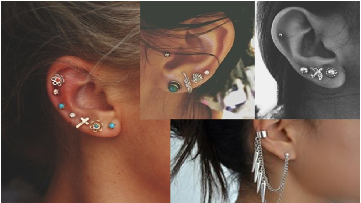 Tragus piercing earrings