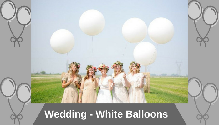 Wedding - White Balloons