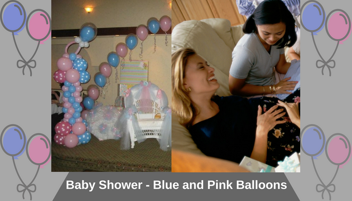 Baby Shower - Blue and Pink Balloons