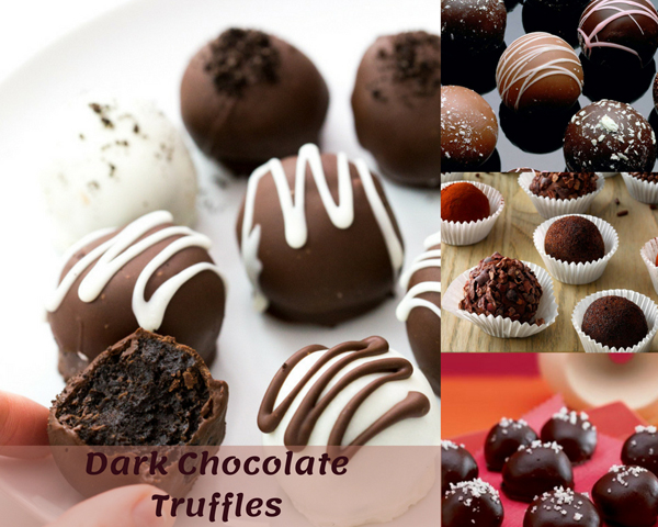 A Traditional French Dark Chocolate Truffles Recipe